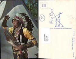 631256,Foto Ak Indian Chief In Full Dress Indianer - Ansichtskarten
