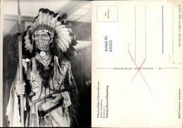 631253,Völkerkundliches Indianer Museum Radebeul Dakota Sioux Häuptling - Ansichtskarten