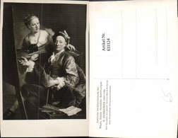 631124,Künstler Ak G. Desmarees Der Künstler Mit Tochter Maria Antonia Maler Malerei - Berufe