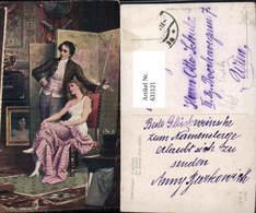 631121,Künstler Ak Schweninger Im Atelier Maler Malerei Erotik - Berufe