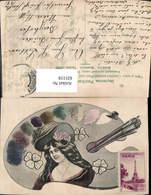 631119,Palette Pinsel Frau Portrait Maler Malerei - Berufe