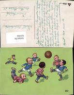 631056,Künstler Ak Kinder Spielen Fussball Ball Sport - Fussball