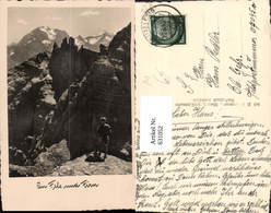 631052,Foto Ak Mann In Fels Und Firn Klettern Bergsteigen - Alpinismus, Bergsteigen