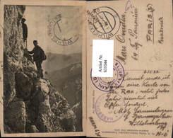631044,Männer Klettern Seilschaft Bergsteigen Am Malersteig Rax - Alpinismus, Bergsteigen