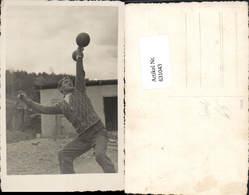 631043,Foto Ak Mann Mit Hantel Gewichtheben Kraftsport Sport - Ansichtskarten
