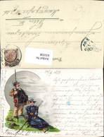 631038,Litho Paar Wandern Bergsteigen Humor Scherz 1899 Sport - Alpinismus, Bergsteigen