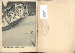 631017,Plan Torrette Sopra Il Breuil Ed Il Cervino Tourengeher Skibergsteigen Winters - Wintersport