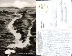 630997,Landkarten AK Der Möhnesee A. D. Vogelschau Drüggelte Allagen Körbecke - Ansichtskarten