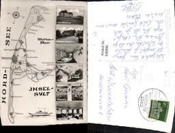 630996,Landkarten AK Insel Sylt Nordsee Wattenmeer Kampen Keitum Westerland - Ansichtskarten