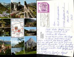 630994,Landkarten AK Drei-Pässe-Fahrt Flexenpass Fernpass Arlbergpass - Ansichtskarten