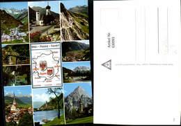 630993,Landkarten AK Drei-Pässe-Fahrt Flexenpass Fernpass Arlbergpass - Ansichtskarten