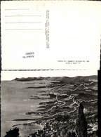 630982,Landkarten AK La Cote D Azur De Menton A Cannes A Vol D Oiseau France - Ansichtskarten