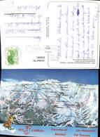 630981,Landkarten AK Les Trois Vallers Savoie France Courchevel Meribel Val Thorens L - Ansichtskarten