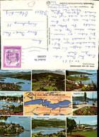 630980,Landkarten AK Rund Um D. Wörthersee Pörtschach Klagenfurt Reifnitz Velden - Ansichtskarten