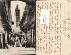 630966,Fez Fes Medina Grande-Rue Du Talaa Et Mosquee Sidi Ahmed-el-Tijani Volkstypen - Marokko