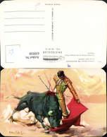 630938,Künstler Ak Lorenzo Garza El Magnifico En Un Pase Natural Stier Stierkampf Mex - Mexiko