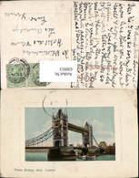 630913,London Tower Bridge Shut Passepartout Brücke Great Britain - Ansichtskarten