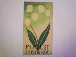 2019  -  2518  CARTE  Parfumée  MUGUET  L.T. PIVER  PARIS  XXXXX - Cartes Parfumées