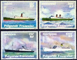 Polynesie Fran�aise 1978 Yvert 124 / 127 ** TB Coin De Feuille Avec Date - Polynésie Française