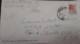 V) 1955 MEXICO, POSTAL STATIONARY,  FROM VENADO TO FLORIDA, BLACK CANCELLATION - Mexico
