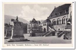 Goslar/Harz, Kaiserpfalz, Barbarossa U. Kaiser Wilh-Denkmal - Goslar