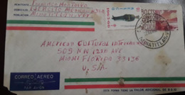 V) 1965 MEXICO, TB SEALS, SOLDIER, CU MODERN ARCHITECTURE, POSTAL STYATIONARY, AIRMAIL CIRCULATED COVER FROM MINATITLAN - Mexico
