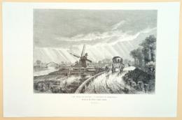 Staalgravure 'Vue Prise En Zélande - Environ De Middelburg'/ Steel Engraving 'View Taken In Zeeland - Around Middelburg' - Prenten & Gravure