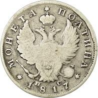 Monnaie, Russie, Alexander I, Poltina, 1/2 Rouble, 1817, TB, Argent, KM:129 - Russie