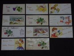 Lot De 11 Cartes Parfumées Anciennes LIF. Carte Parfumée - Cartes Parfumées