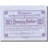 Billet, Autriche, Kürnberg, 20 Heller, Eglise 1920-12-31, SPL, Mehl:FS 490a - Autriche