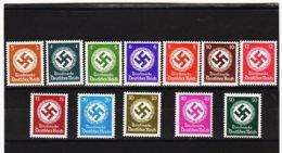 RAD231 DEUTSCHES REICH  1942 MICHL 166/77  DIENST ** Postfrisch Siehe ABBILDUNG - Unused Stamps