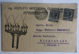 GENOVA ING. ADOLFO WIEDER IMPRESA PER L'ESECUZIONE D'IMPIANTI ELETTRICI  1923 - Genova