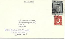 """Pakistan 1956 """" Sablier """" Lettre Vers Autriche - Uhrmacherei"""