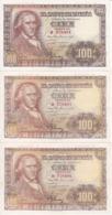 TRIO CORRELATIVO DE 100 PTAS DEL 2/05/1948 SERIE H EN CALIDAD  EBC (XF)  (BANKNOTE) - [ 3] 1936-1975 : Regime Di Franco