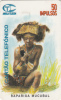 ANGOLA(chip) - Rapariga Mucubal, First Issue 50 Units, Tirage 50000, Used - Angola