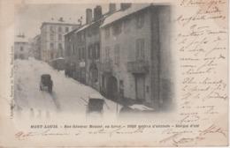 CPA Précurseur Mont-Louis - Rue Général Menier En Hiver - Autres Communes