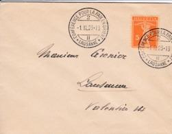 Klein Brief  1923. Von  Lausanne Nach Lausanne Zu:152 / Mi: 162 X. Stempel:Lausanne., Conférence Pour La Paix En Orient - Lettres & Documents