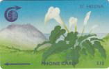ST. HELENA ISL.(GPT) - Arum Lily, CN : 3CSHD, Tirage 2000, Used - Sainte-Hélène