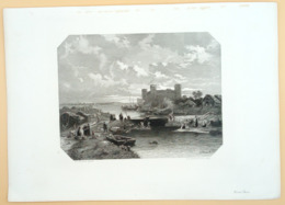 Staalgravure 'Muiden/ Steel Engraving 'Muiden (NL)', 1869, Kesteren, Verveer - Prenten & Gravure