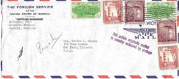 """Pakistan 1957 """" Sablier """" Lettre Vers U.S.A.. - Uhrmacherei"""