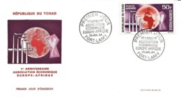 Tchad FDC YT PA  17 Europe Afrique Fort Lamy 20/07/64 - Chad (1960-...)