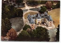 LE NOUVION EN THIERACHE -02- Le Chateau  Coté Avenue Aumal-Vue Aérienne Edit Cim. Carte Decollée D'un Album - France