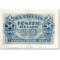 Billet, Autriche, Wels, 50 Heller, Batiment 1, SPL, Mehl:1167 II - Autriche