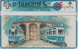 SUISSE - PHONE CARD - TAXCARD-PRIVÉE *** TRAIN - ZUG & TRAM - 100 ANS *** - Schweiz