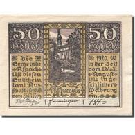 Billet, Autriche, Aspach, 50 Heller, Château 1920-08-31, SUP, Mehl:FS 57a - Autriche