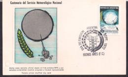 Argentina - 1972 - Carte FDC - Centenaire Du Service Météorologique National - Climat & Météorologie