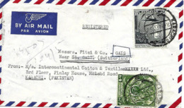 Pakistan 1956 Sablier Sur Lettre Recommande Vers Suisse. Voir 2 Scan - Uhrmacherei