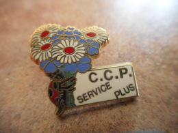 A040 -- Pin's Poste CCP Service Plus Bouquet De Fleurs - Postes