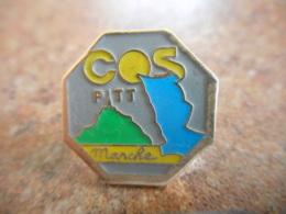 A040 -- Pin's Poste COS PTT Manche - Postes