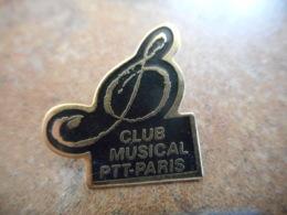 A040 -- Pin's Poste Club Musical PTT Paris - Postwesen